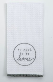 Good To Be Home Waffle Towel - Molly's! A Chic and Unique Boutique