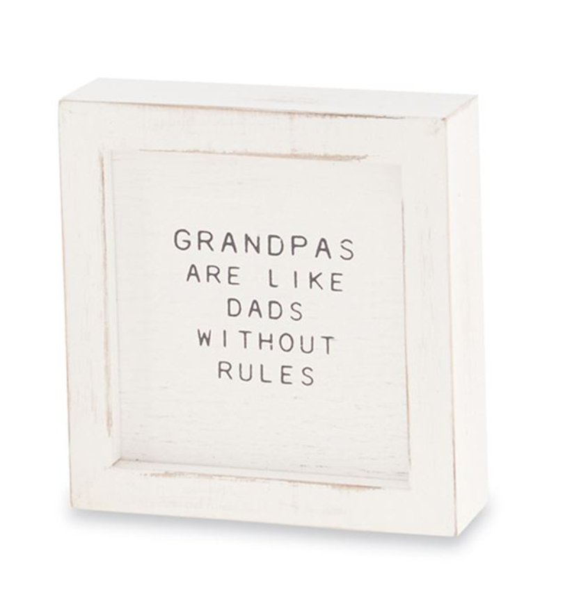 GRANDPA SMALL FAMILY PLAQUE - 43400081P - Molly's! A Chic and Unique Boutique