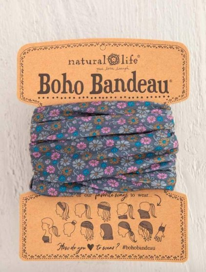 GREY DAISY FLORAL PRINT BOHO BANDEAU - Molly's! A Chic and Unique Boutique
