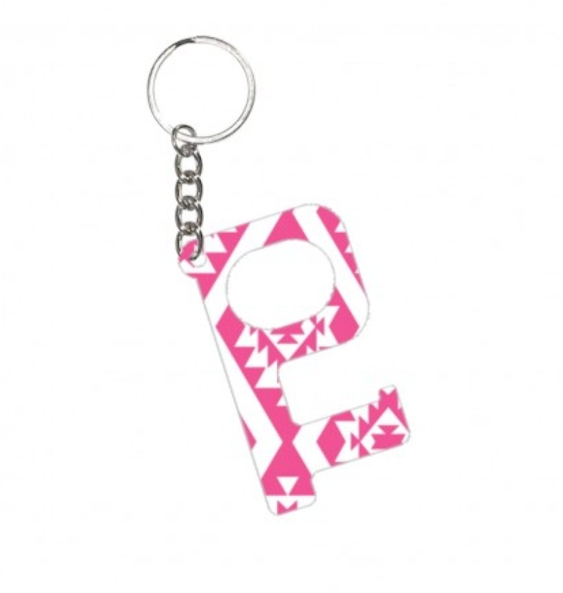 Hands-Free Keychain - Hot Pink Aztec - Molly's! A Chic and Unique Boutique