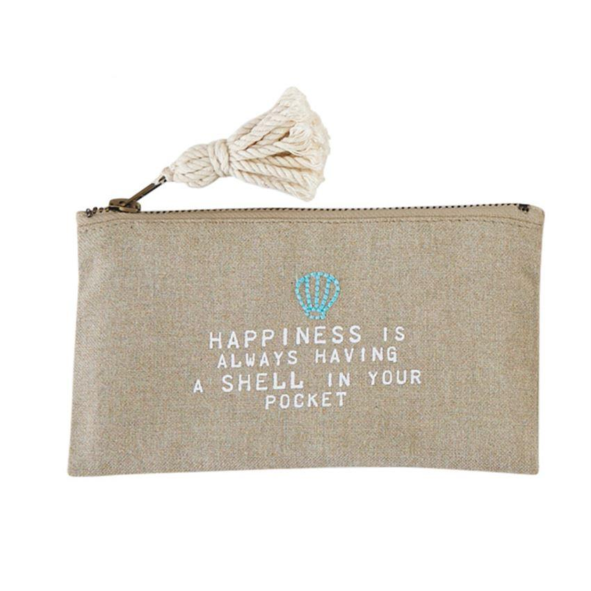 Happiness Beach Pouch - Molly's! A Chic and Unique Boutique