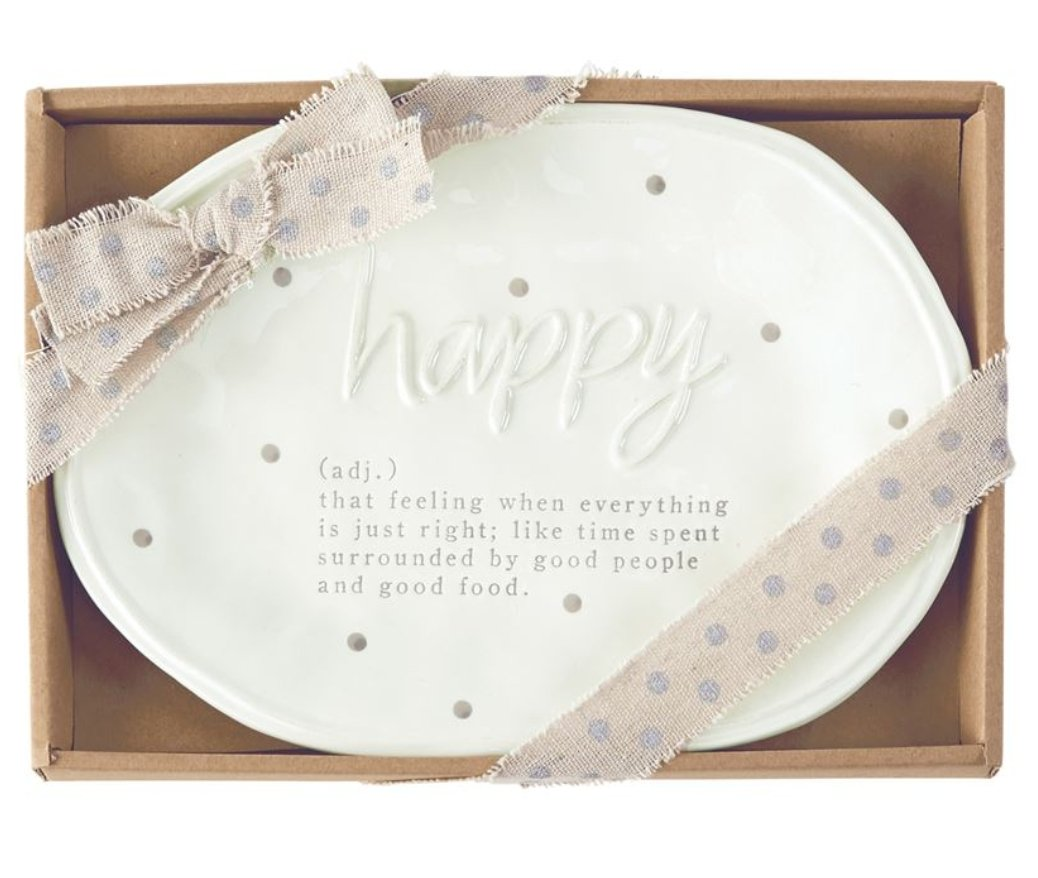 HAPPY DEFINITION PLATE - Molly's! A Chic and Unique Boutique
