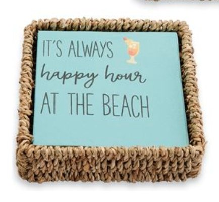 HAPPY HOUR NAPKIN BASKET - Molly's! A Chic and Unique Boutique