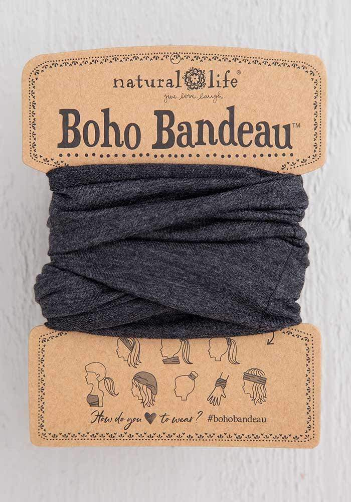 HEATHERED CHARCOAL FULL BOHO HEADBAND - BBW185 - Molly's! A Chic and Unique Boutique