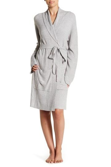 HEATHERED SHORT RIBBED ROBE - Molly's! A Chic and Unique Boutique