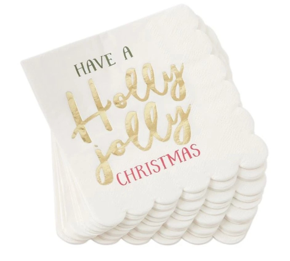 HOLLY JOLLY PAPER NAPKINS - Molly's! A Chic and Unique Boutique