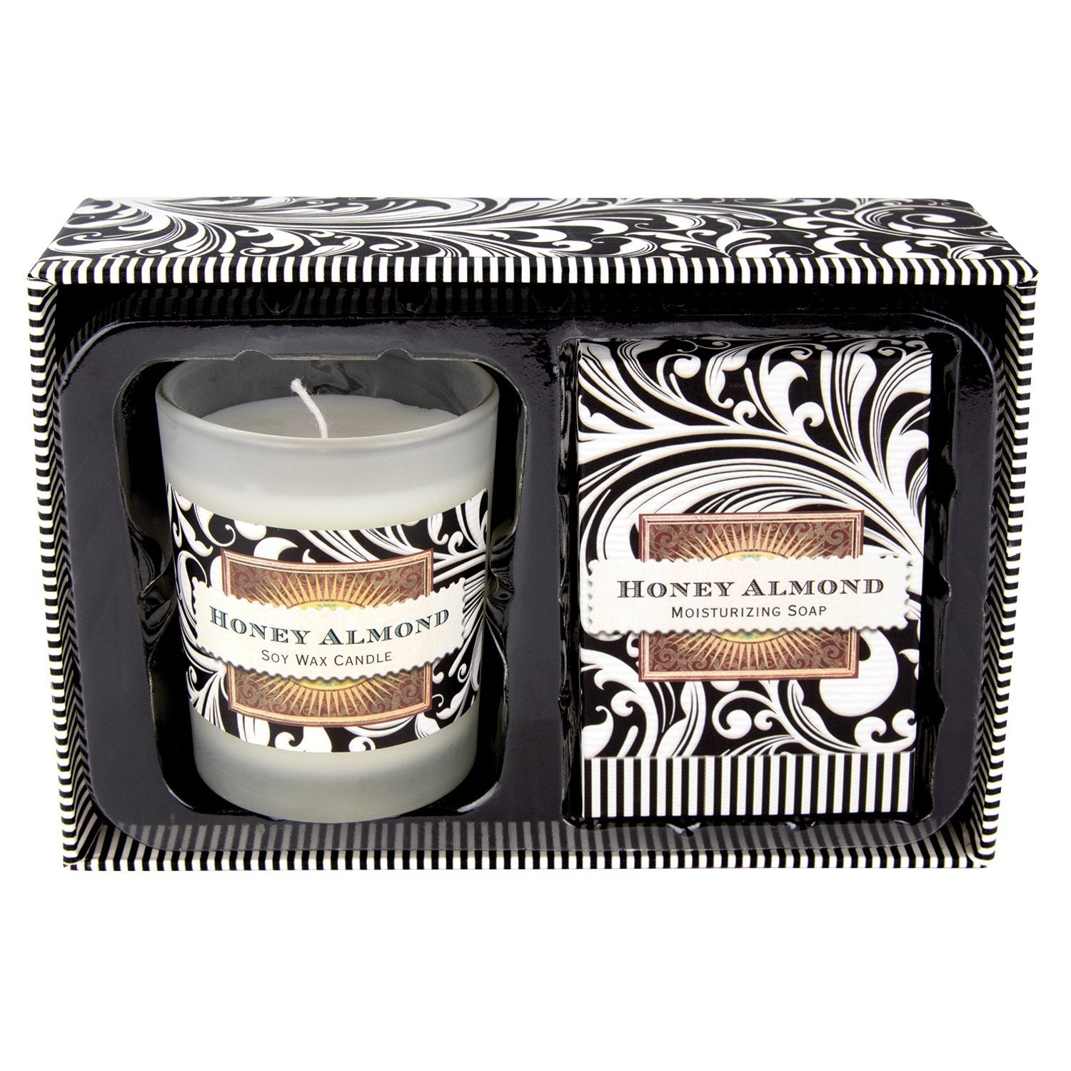 HONEY ALMOND CANDLE AND SOAP GIFT SET CSS182 - Molly's! A Chic and Unique Boutique