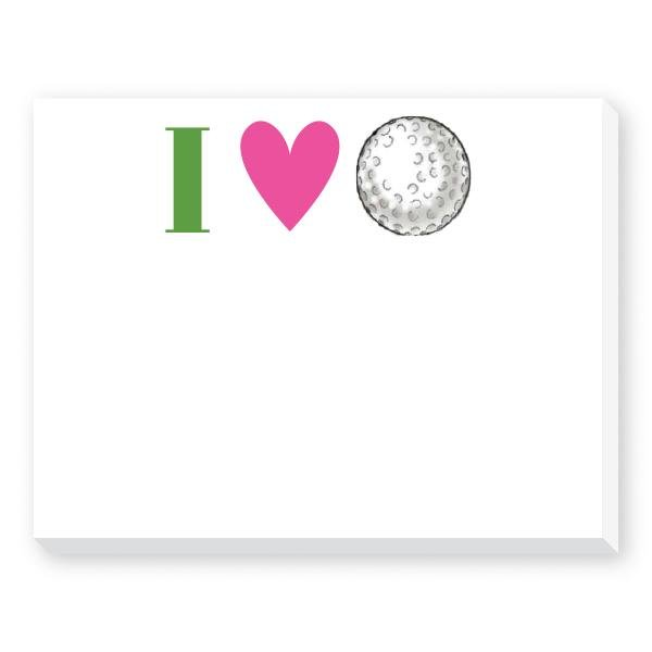 I HEART GOLF NOTEPAD - Molly's! A Chic and Unique Boutique