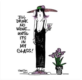 "I'LL DRINK NO WINE, UNTIL IT'S IN MY GLASS"" NIGHTSHIRT IN BAG - Molly's! A Chic and Unique Boutique"