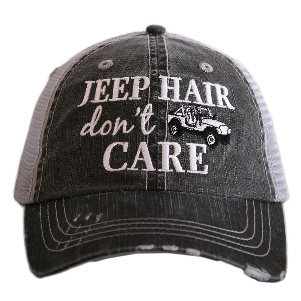 "JEEP HAIR DON""T CARE TRUCKER HAT - KDC-TC-161 - Molly's! A Chic and Unique Boutique"