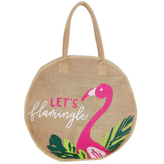 JUTE FLAMINGO TOTE (CANT FIND ON MUD PIE) - Molly's! A Chic and Unique Boutique