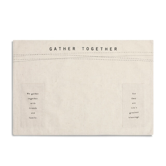 GATHER TOGETHER PLACEMAT - Molly's! A Chic and Unique Boutique