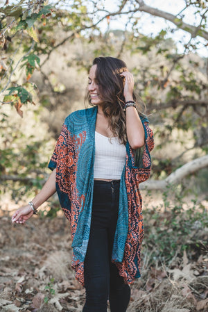 KIMONO - LAHAINA MANDALA (Three colors) - Molly's! A Chic and Unique Boutique