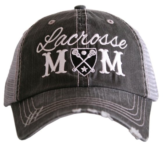 LACROSSE MOM TRUCKER HAT - TC-280-GRY-BLK - Molly's! A Chic and Unique Boutique