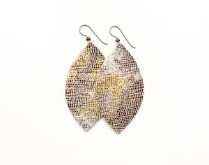 LEATHER EARRINGS - METALLIC SHIMMER (LARGE) - Molly's! A Chic and Unique Boutique