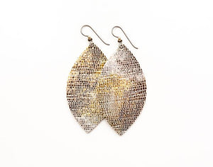 LEATHER EARRINGS - METALLIC SHIMMER (SMALL) - Molly's! A Chic and Unique Boutique