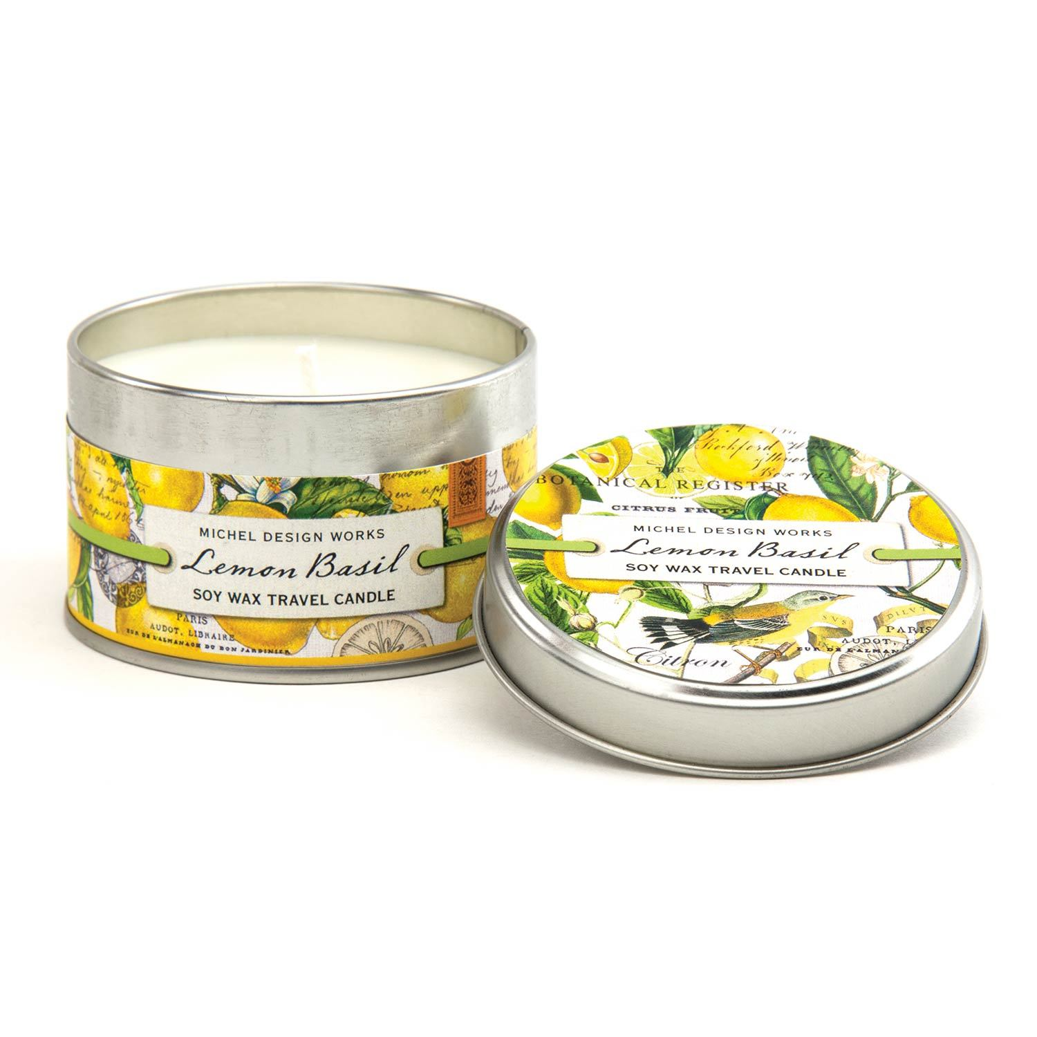 LEMON BASIL TRAVEL CANDLE CANT8 - Molly's! A Chic and Unique Boutique