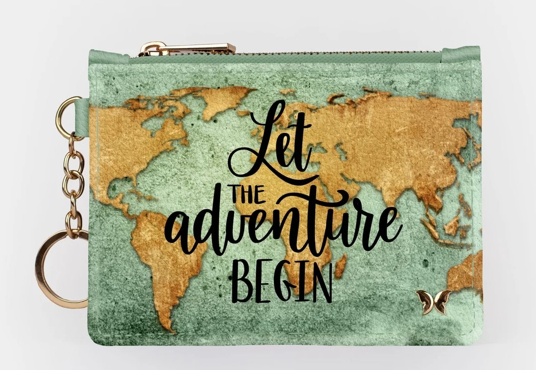 LET ADVENTURE BEGIN-KEYCHAIN WALLET - Molly's! A Chic and Unique Boutique