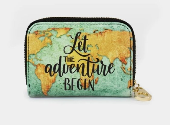LET ADVENTURE BEGIN-ZIPPER WALLET - Molly's! A Chic and Unique Boutique