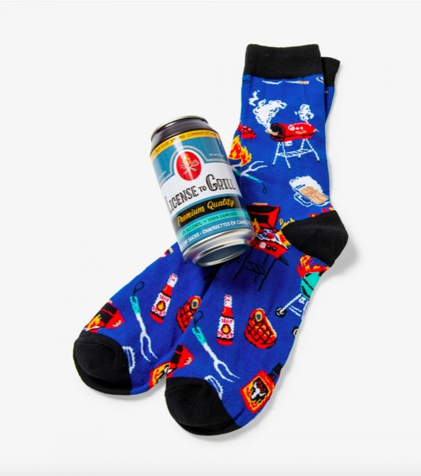 LICENSE TO GRILL MEN'S BEER CAN SOCKS - Molly's! A Chic and Unique Boutique