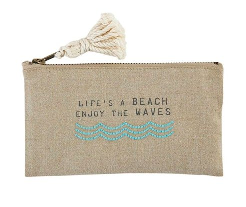 Life's A Beach Pouch - Molly's! A Chic and Unique Boutique