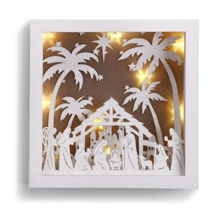 LIT NATIVITY SCENE BOX ART - Molly's! A Chic and Unique Boutique