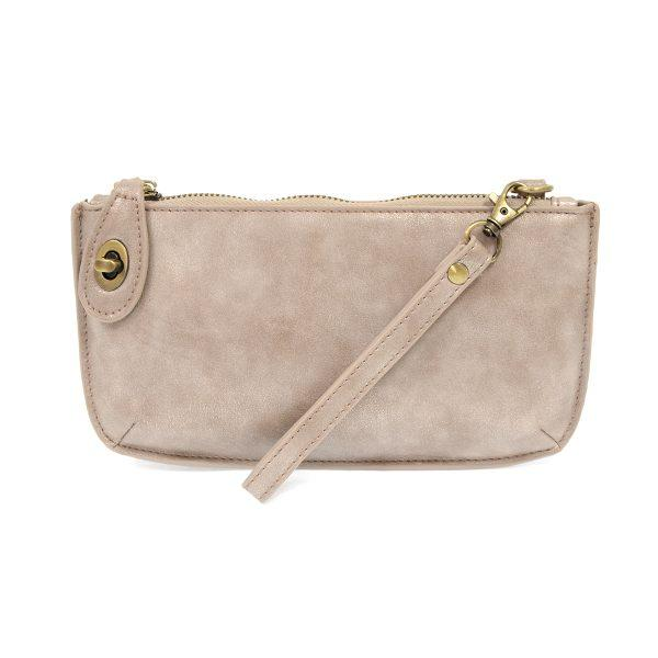 LUSTRE LUX CROSSBODY WRISTLET CLUTCH- CHAMPAGNE - Molly's! A Chic and Unique Boutique