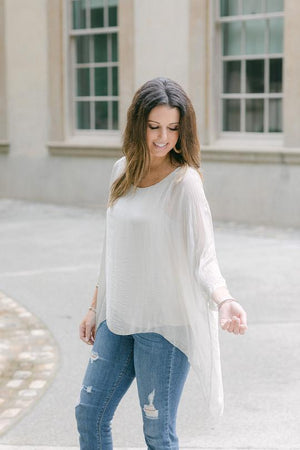 MARTINA-BEIGE TOP - Molly's! A Chic and Unique Boutique
