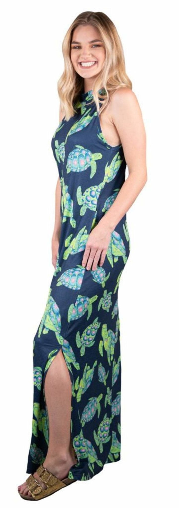 MAXI DRESS - TURTLE PRINT - Molly's! A Chic and Unique Boutique