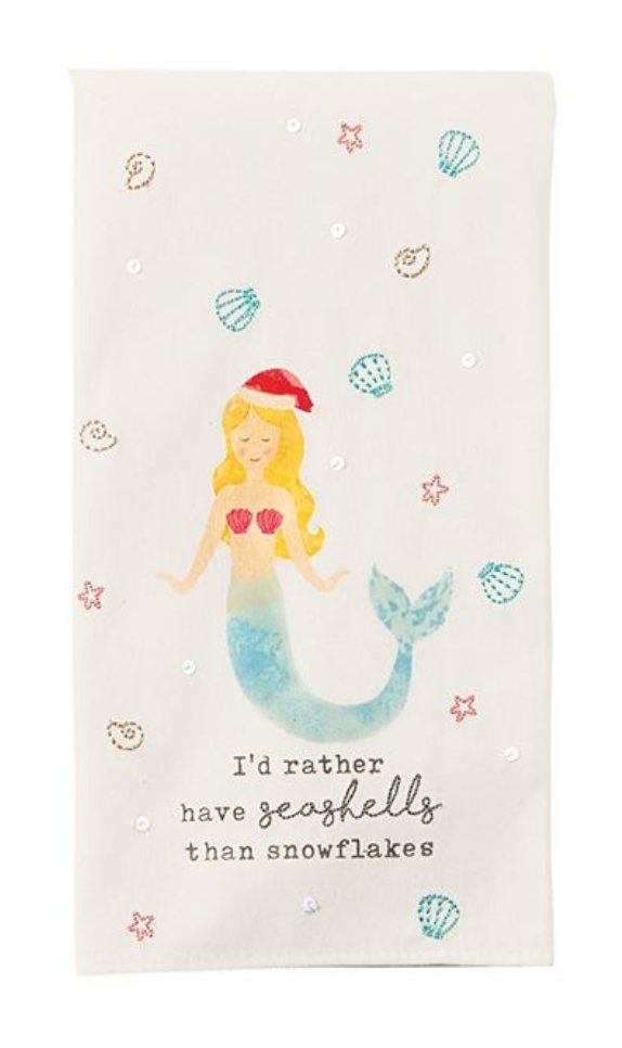 MERMAID BEACH CHRISTMAS TOWEL - Molly's! A Chic and Unique Boutique