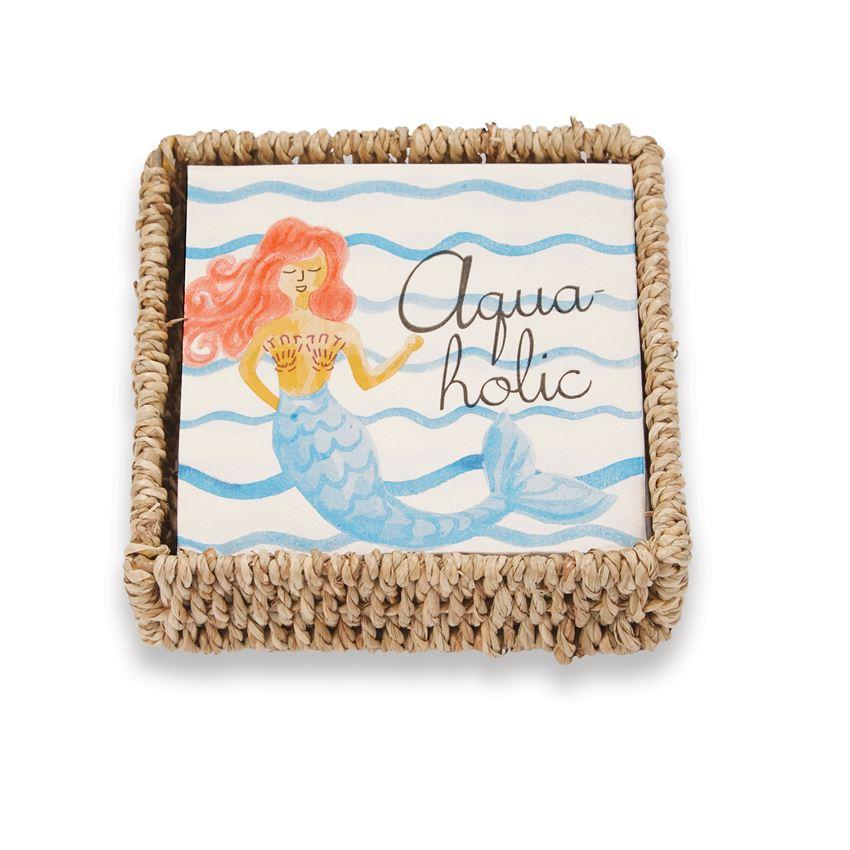 MERMAID NAPKIN BASKET - Molly's! A Chic and Unique Boutique