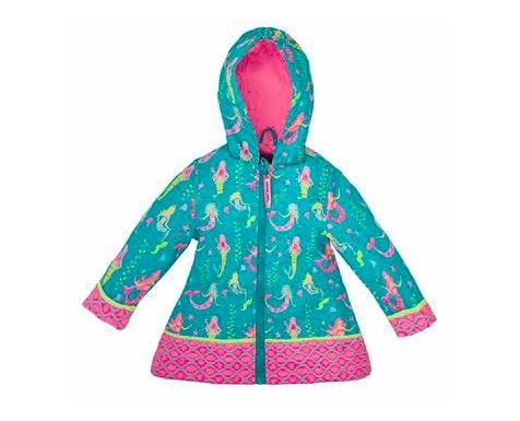 MERMAID PRINT RAINCOAT (Size 3T only) - Molly's! A Chic and Unique Boutique