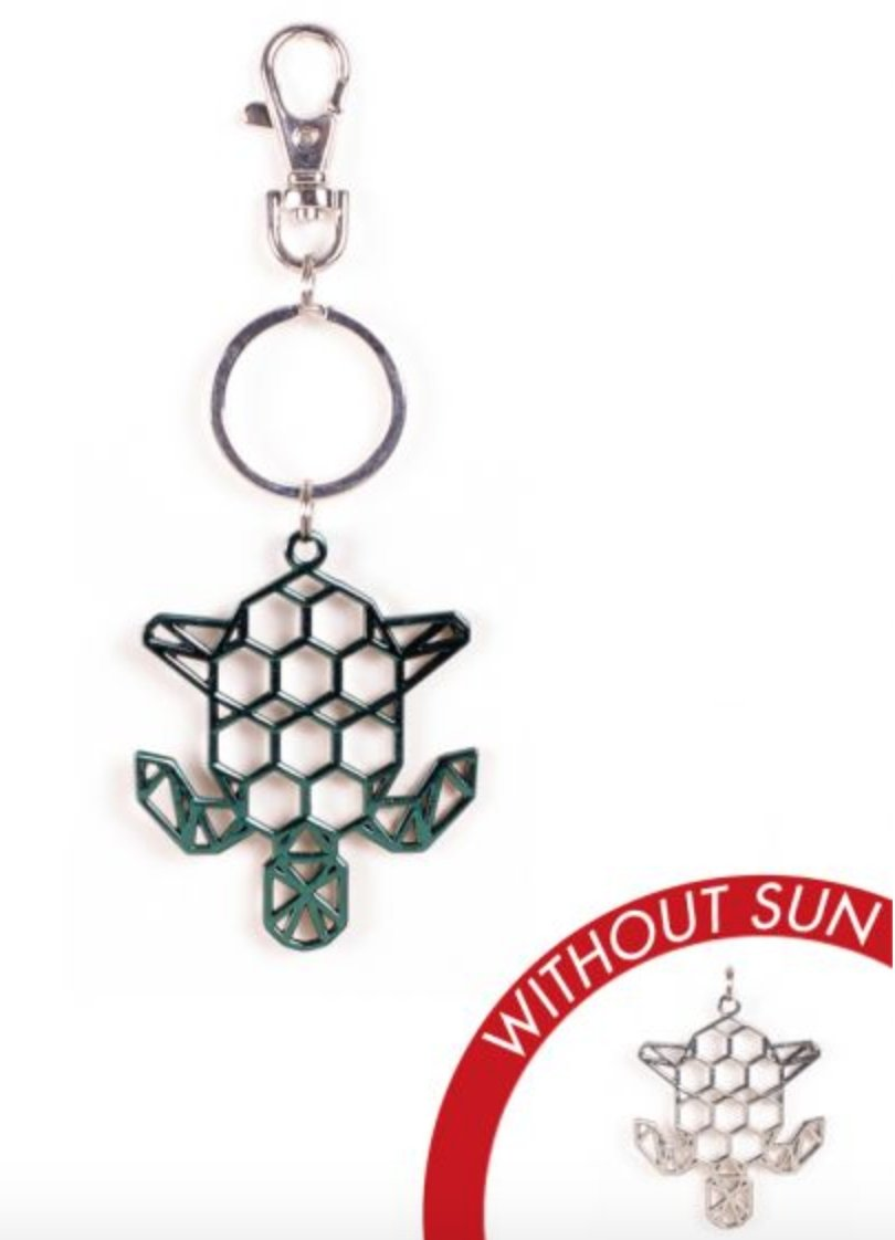 METAL TURTLE KEY CHAIN: COLOR CHANGES WITH THE SUN! - Molly's! A Chic and Unique Boutique
