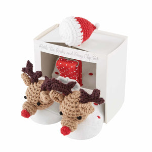 REINDEER PACY SOCK SET - Molly's! A Chic and Unique Boutique