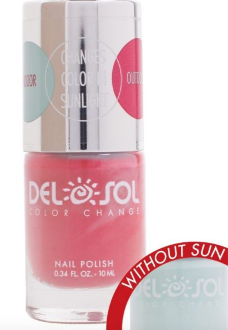 NAIL POLISH: COLOR CHANGES FROM LIGHT BLUE TO PINK WITH THE SUN! - Molly's! A Chic and Unique Boutique
