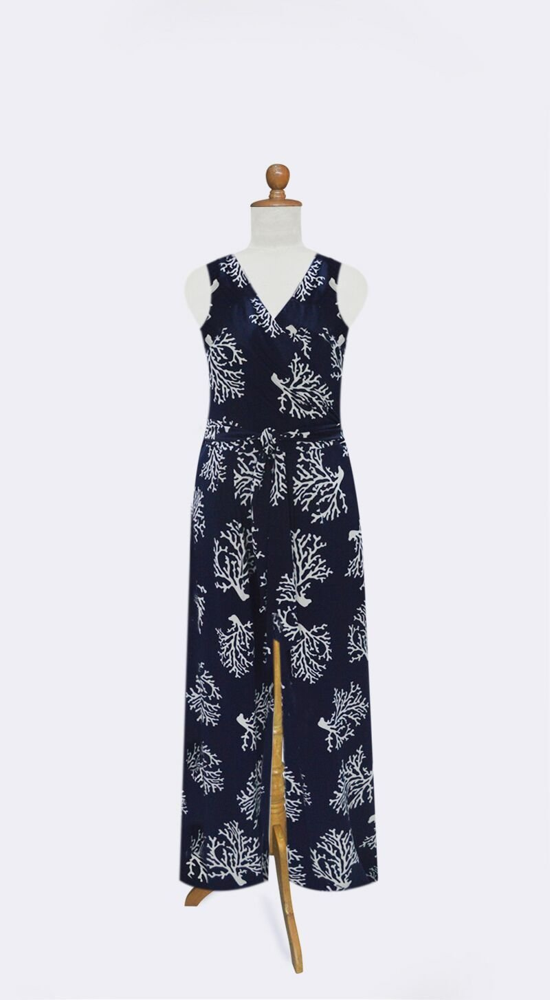 NAVY BARRIER REEF JUMPSUIT - Molly's! A Chic and Unique Boutique