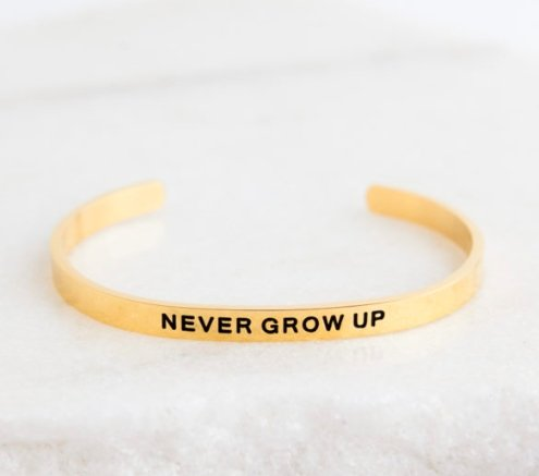 NEVER GROW UP BRACELET - Molly's! A Chic and Unique Boutique