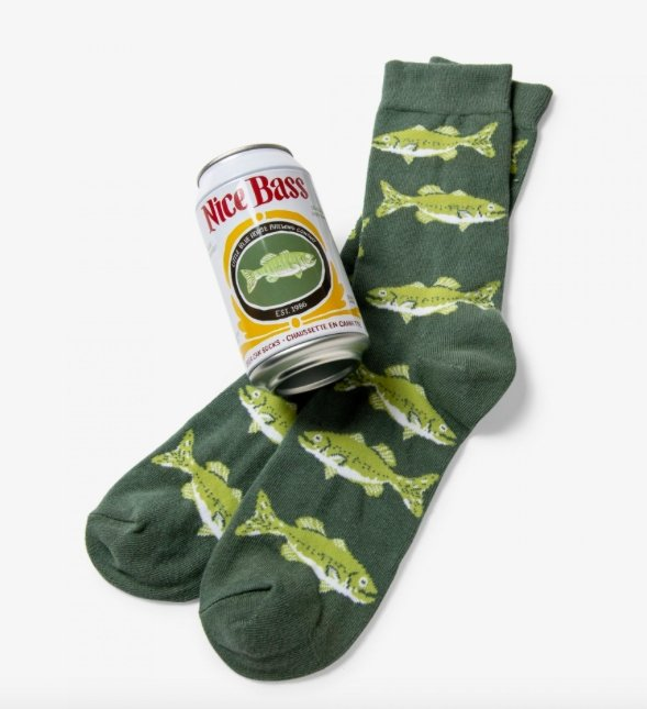 NICE BASS MEN'S BEER CAN SOCKS - Molly's! A Chic and Unique Boutique