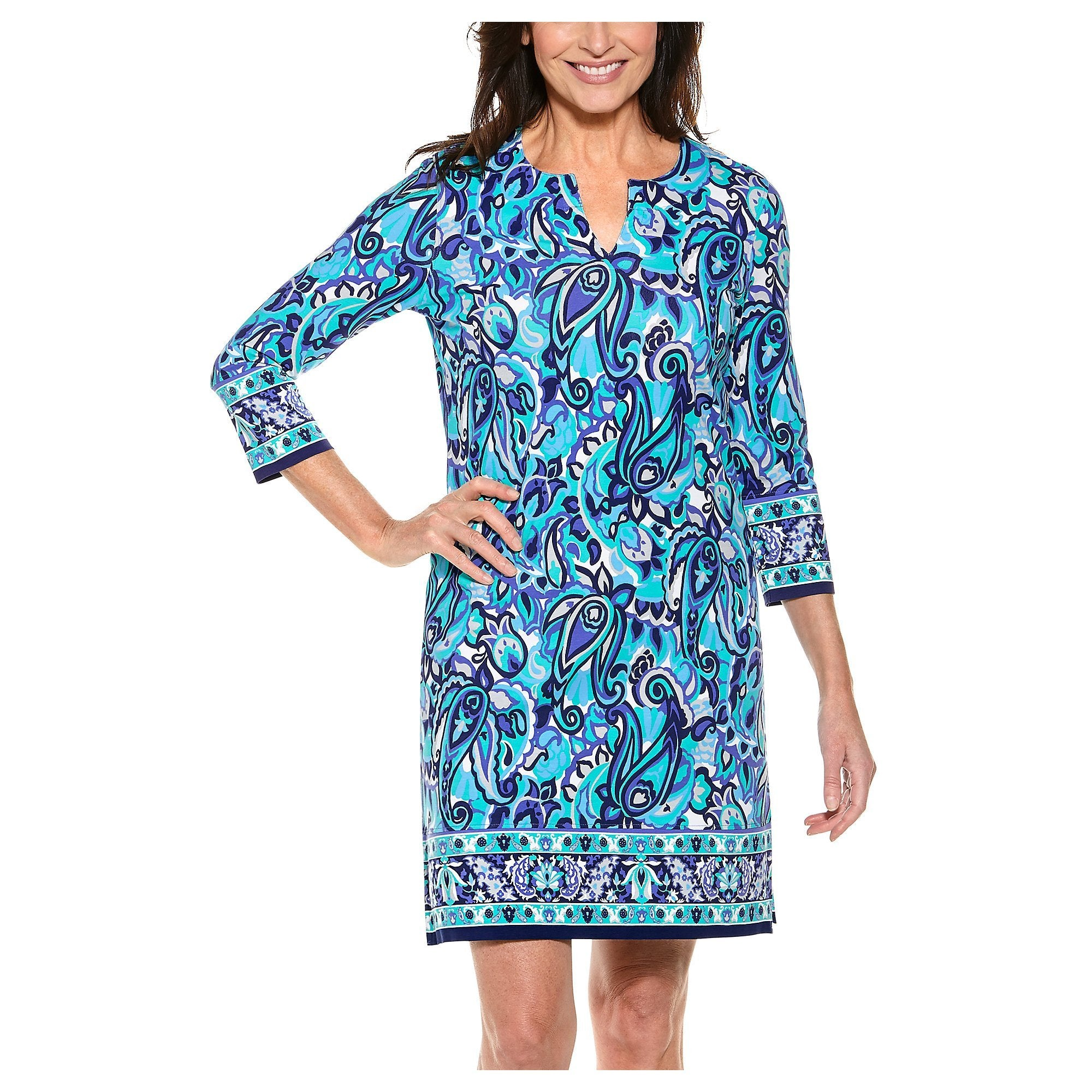 OCEANSIDE TUNIC BLUE VINTAGE PAISLEY (REVIEW on 1.14.21) - Molly's! A Chic and Unique Boutique