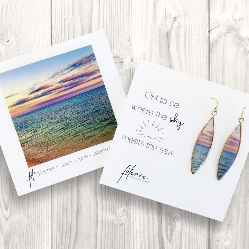 OH TO BE WHERE THE SKY MEETS THE SEA EARRINGS - Molly's! A Chic and Unique Boutique