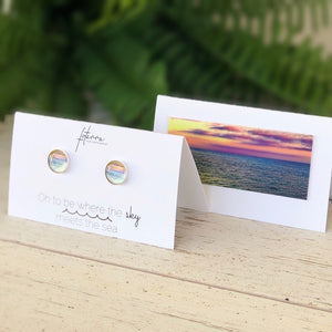 OH TO BE WHERE THE SKY MEETS THE SEA - STUD EARRINGS - Molly's! A Chic and Unique Boutique