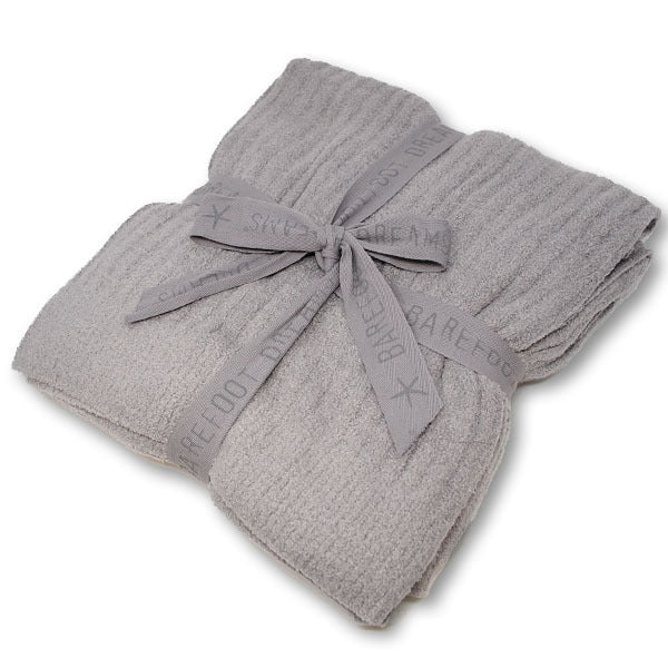 BAREFOOT DREAMS RIBBED THROW PEWTER - Molly's! A Chic and Unique Boutique
