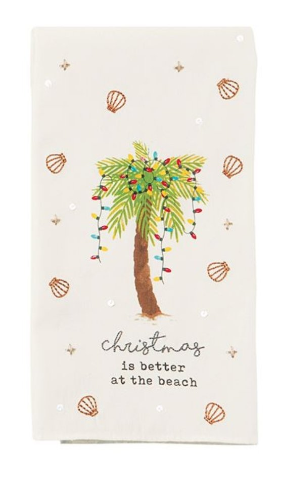 PALM BEACH CHRISTMAS TOWEL - Molly's! A Chic and Unique Boutique