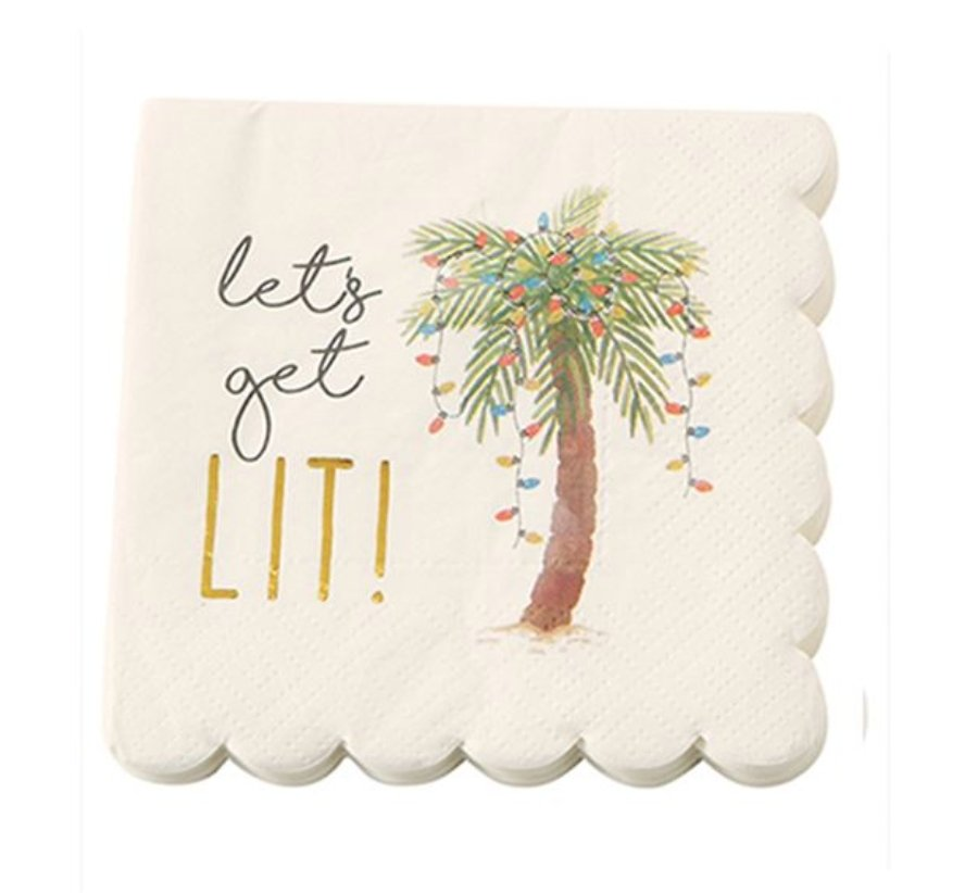 PALM TREE CHRISTMAS NAPKINS - Molly's! A Chic and Unique Boutique