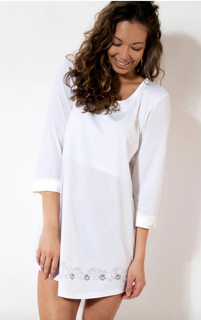 PAWS 3/4 SLEEVE NIGHTGOWN - Molly's! A Chic and Unique Boutique
