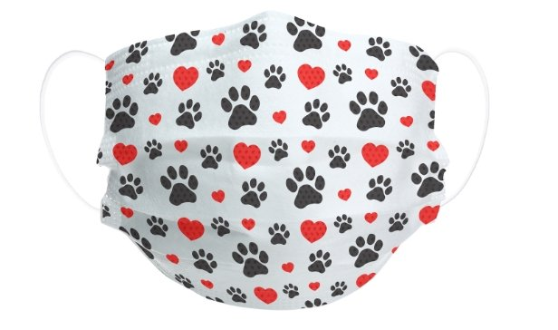 Paws and Hearts- Set of 7 Disposable Masks - Molly's! A Chic and Unique Boutique