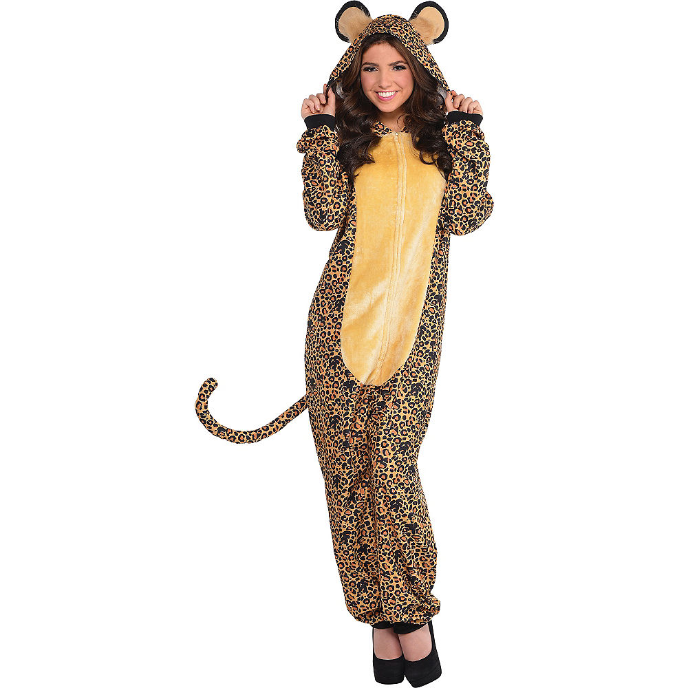 Zipster Leopard One Piece Costume (SIZE L/XL) - Molly's! A Chic and Unique Boutique