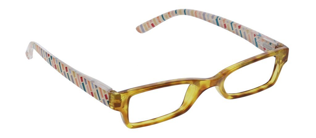 PEEPERS BLUE LIGHT COPENHAGEN- HONEY TORTOISE/FOLK STRIPE - Molly's! A Chic and Unique Boutique