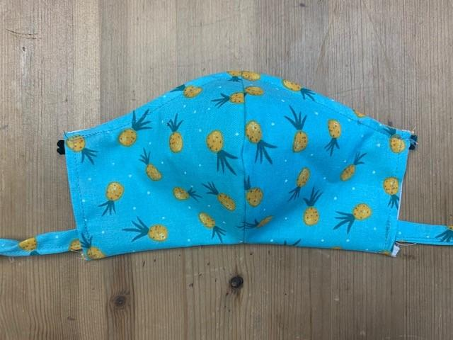 PINEAPPLES: REVERSIBLE MASK - Molly's! A Chic and Unique Boutique