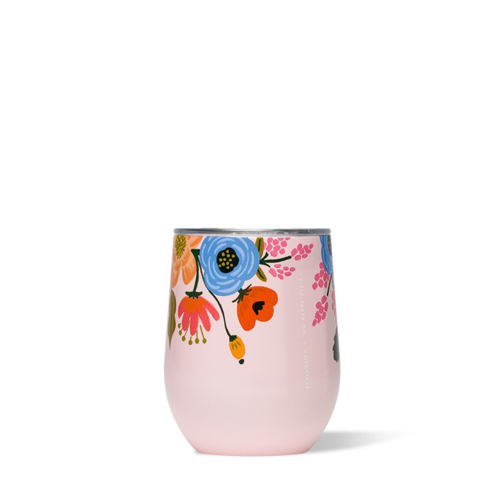 FLOWER 12OZ STEMLESS WINE GLASS - Molly's! A Chic and Unique Boutique